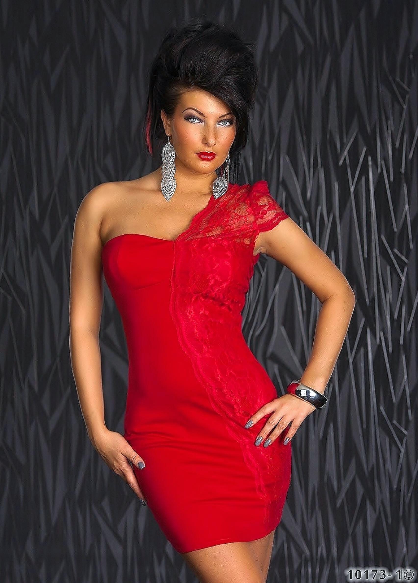 kleid spitze rot lange kleider cocktail kleid schwarz rot t ll spitze only kleid aus floraler. Black Bedroom Furniture Sets. Home Design Ideas