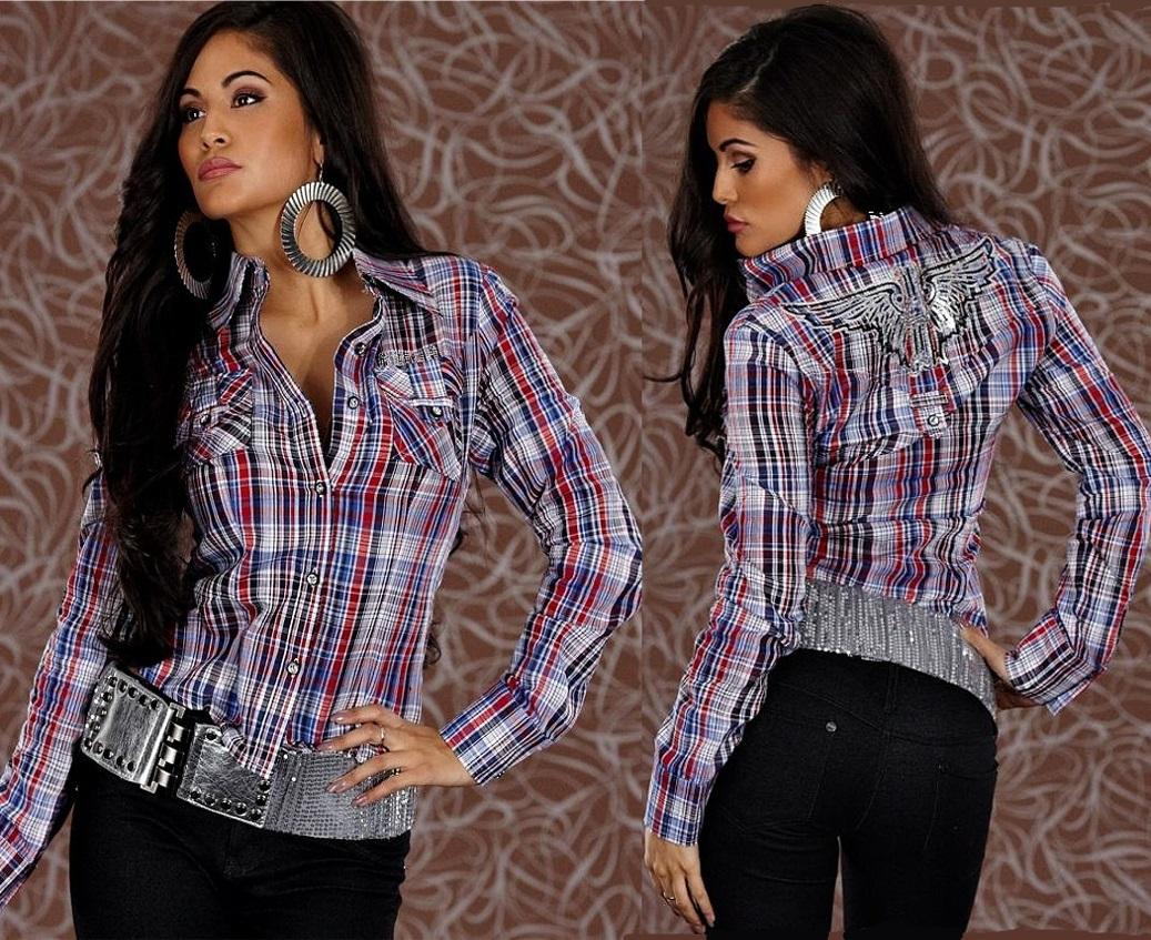 redial bluse kurzbluse karo hemd top pailletten pulli rot. Black Bedroom Furniture Sets. Home Design Ideas